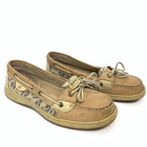 Sperry Topsider 8.5 Cheetah Sequined Slip On Shoes